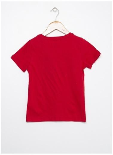 Limon Company Limon Kırmızı Bisiklet Yaka Yazı Baskılı Erkek Çocuk T-Shirt Kırmızı